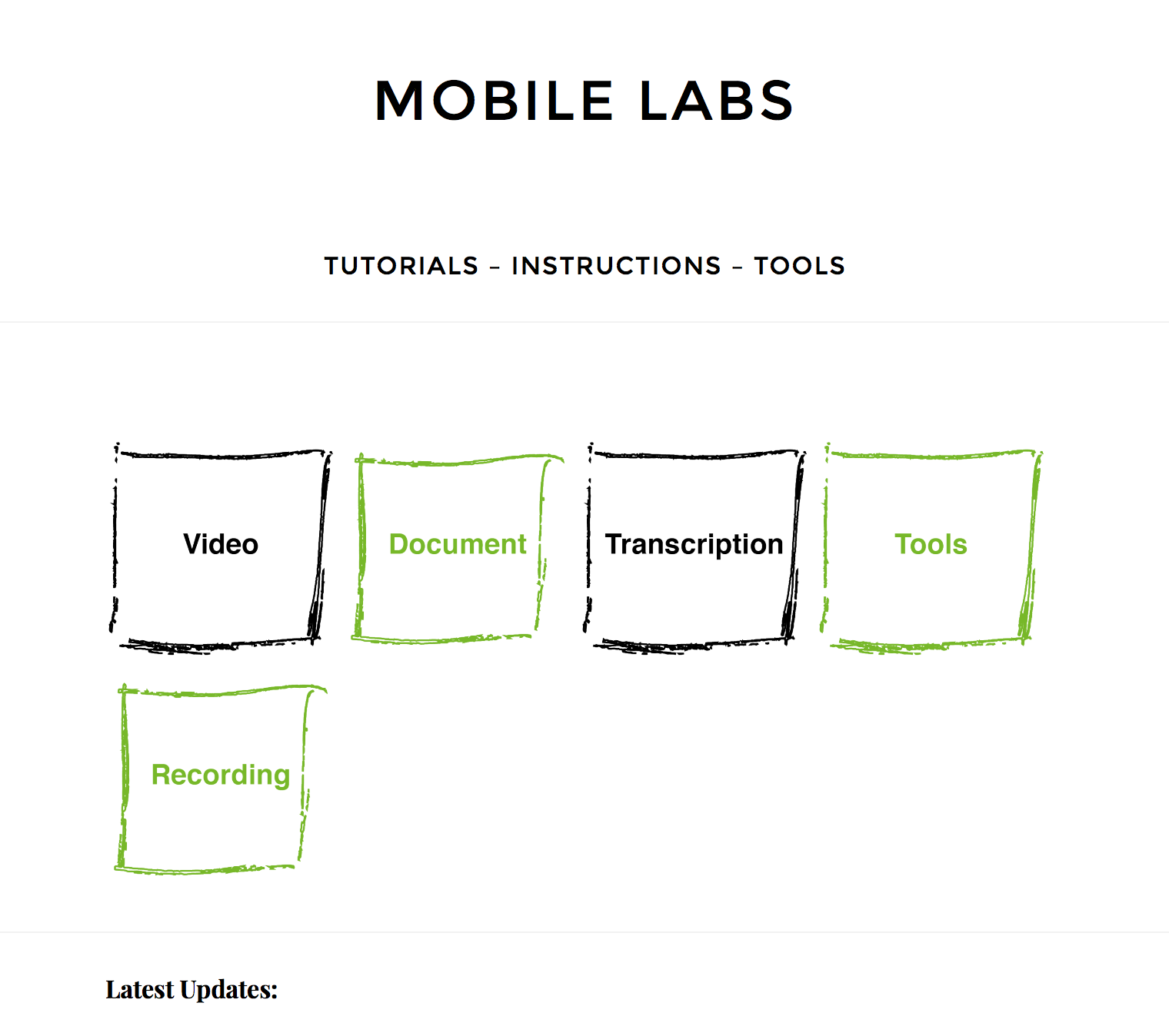 Mobile Labs Website